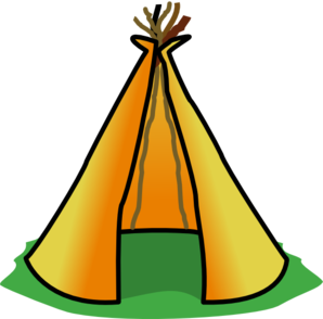 Teepee tent clipart.