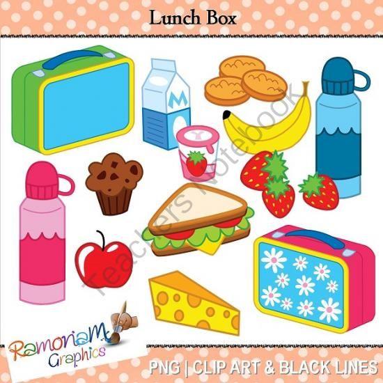 Lunch Box Clipart from RamonaM Graphics on TeachersNotebook.com.