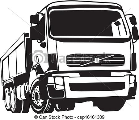 Vector Clipart of tipper.