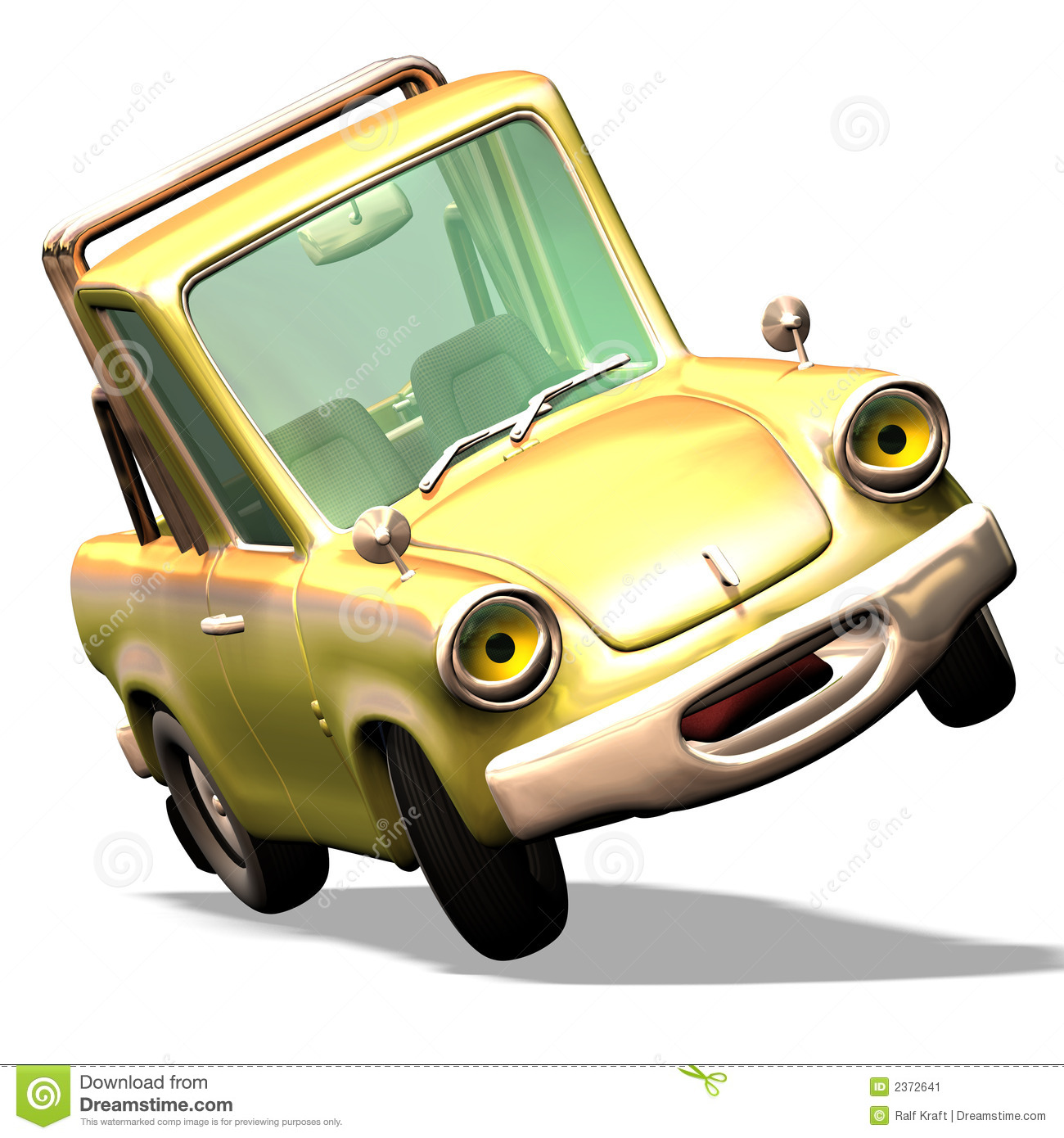 Cartoon Car No. 29 Stock Image.