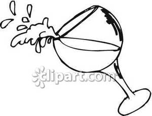 Tipped Wine Glass.