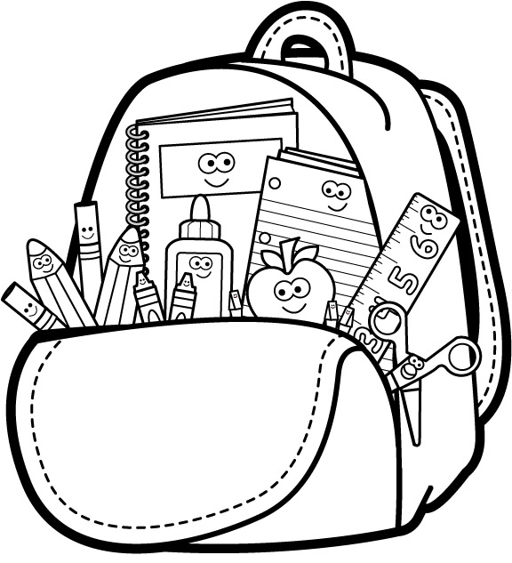 School Supplies Clipart Black And White Tips Home Design.