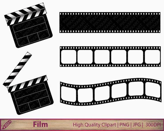 Película clipart prediseñadas de claqueta de cine, imágenes.