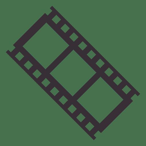 Icono de tira de película.