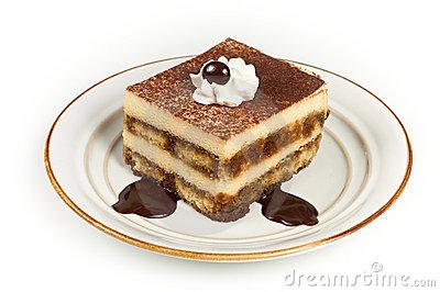 Layered Tiramisu Dessert Royalty Free Stock Images.