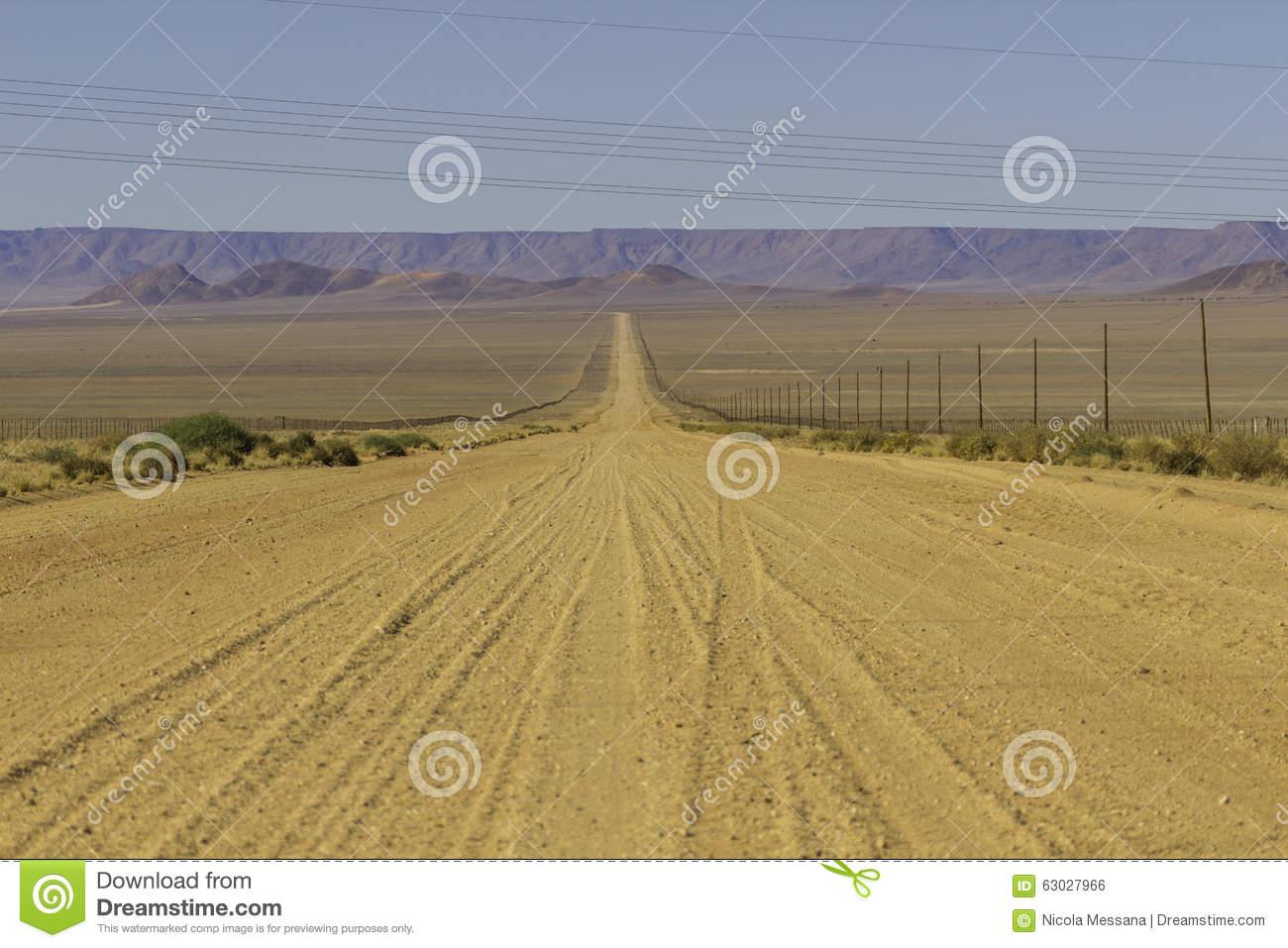 The D707, Scenic Road Through The Tiras Mountains, Namibia Stock.