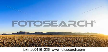 Stock Images of Sunset on Tiras Farm, Tiras Mountains, Namibia.