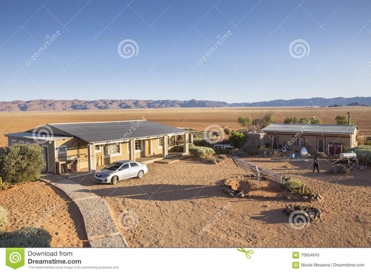 Farm Gunsbewys And Tiras Mountains In Southern Namibia Editorial.