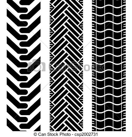 Clipart of offroad tires two.