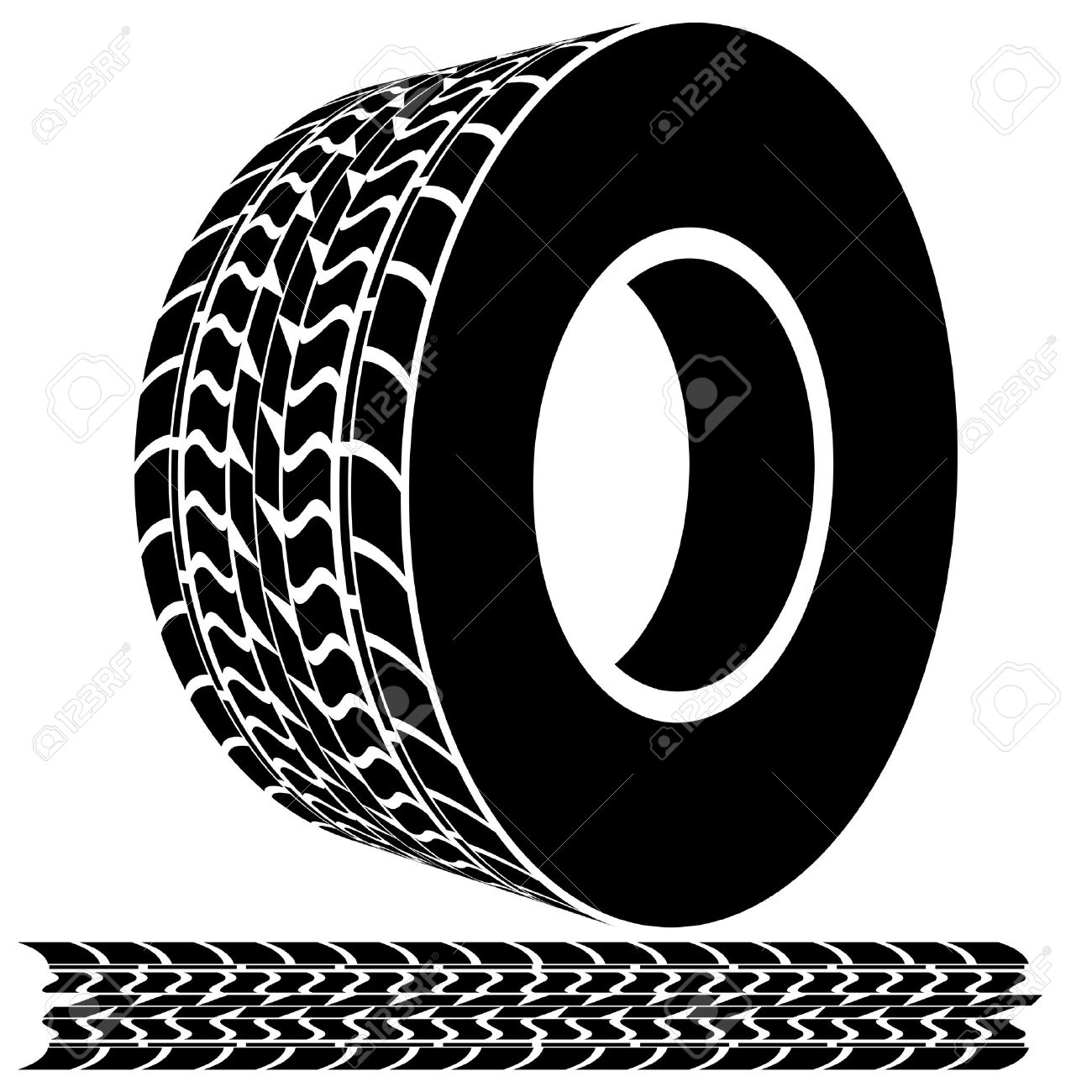 An Image Of A Tire Tread Icon. Royalty Free Cliparts, Vectors, And.