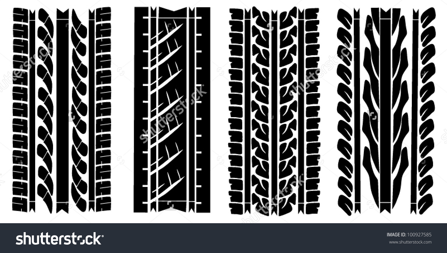 Collection Traces Protectors Tires Stock Vector 100927585.