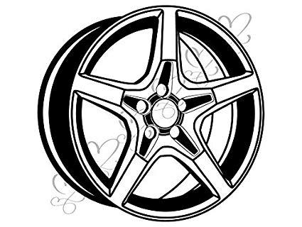 Amazon.com: Yetta Quiller at The Edge of Tire Car Rims Wheel.