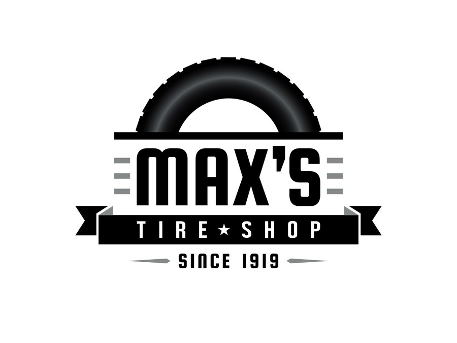 Create the next logo for Max\'s Tire Shop.
