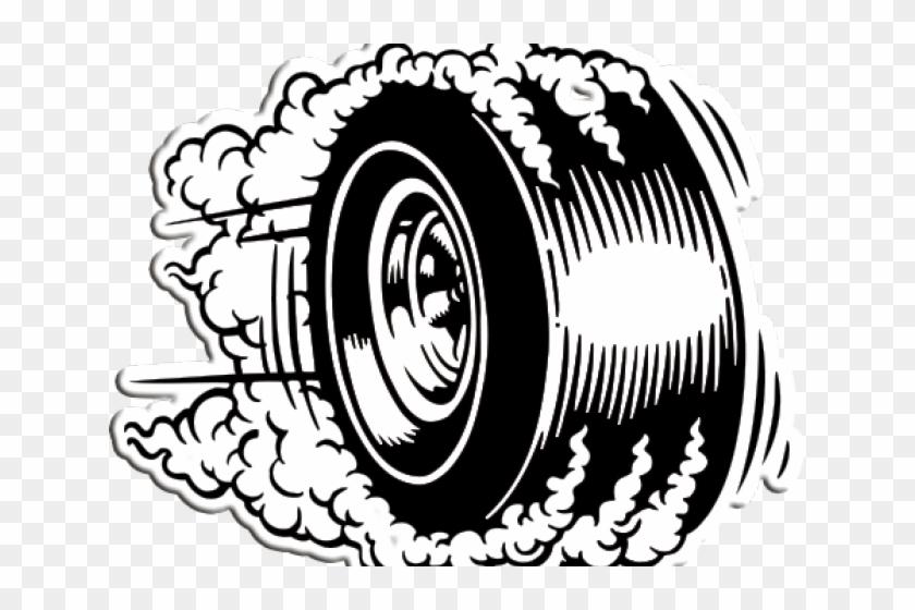 Drawn Smoking Tire Smoke.