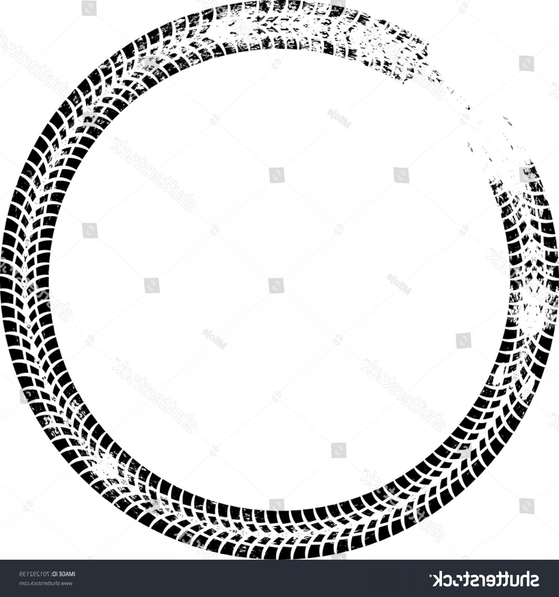 Dirt Bike Tire Track Vector.