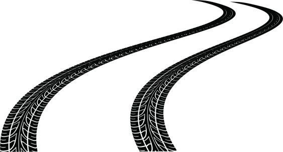 Tire track clipart - Clipground