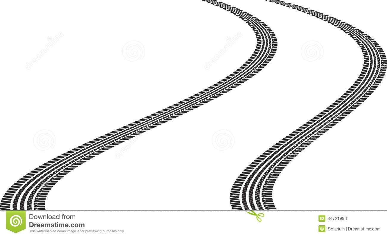 Tire Track Clipart.