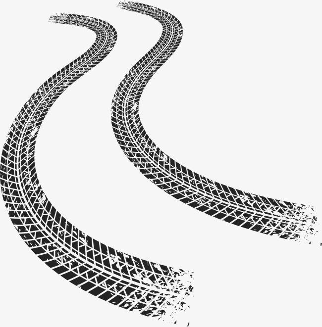 Driving Track, Vector Material, Tire Mark, Rut Prints PNG.