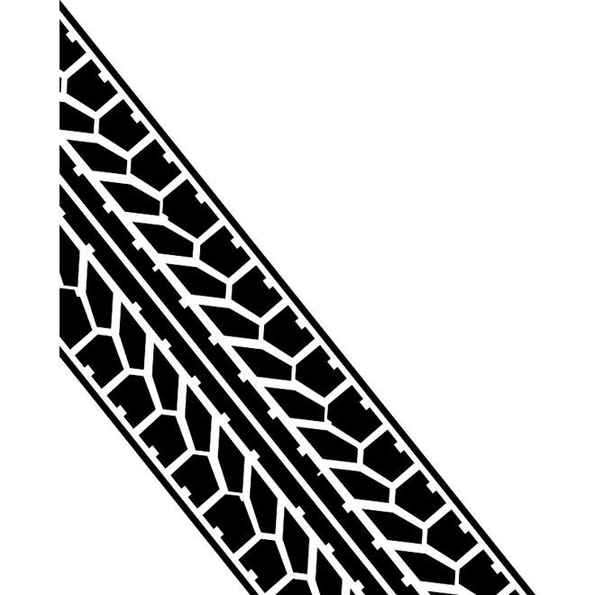Tire tread vector image.
