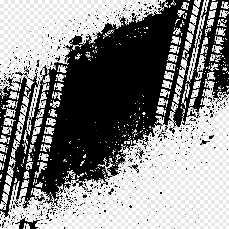 Car Tire Axle track graphy, Black tire marks free png.