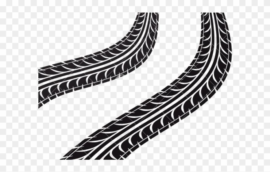 Finish Line Clipart Truck Tire Track.