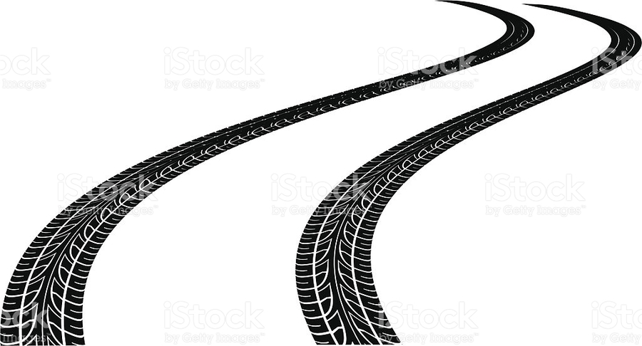 Download curved tire tracks clipart Tread Tire Clip art.
