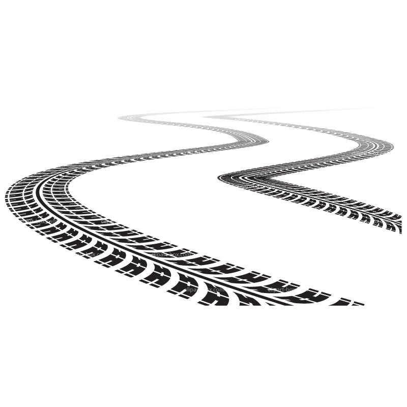 Tire Tracks Clip Art free image.