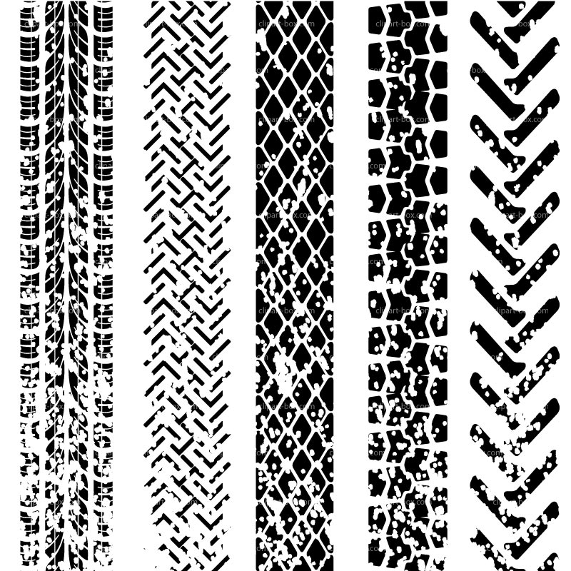 Motorcycle Tire Tracks Clipart.