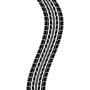 Tire tracks clipart.