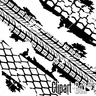 CLIPART TIRE TRACKS.