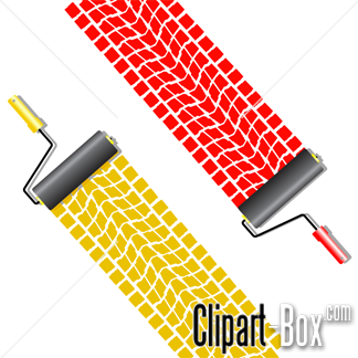 CLIPART TIRE TRACKS PAINT ROLLERS.