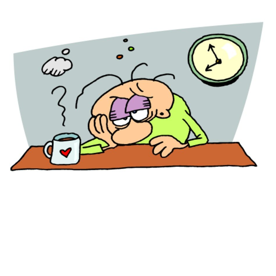 Tired At Work Clip Art free image.