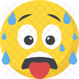 Tired Emoji Icon.