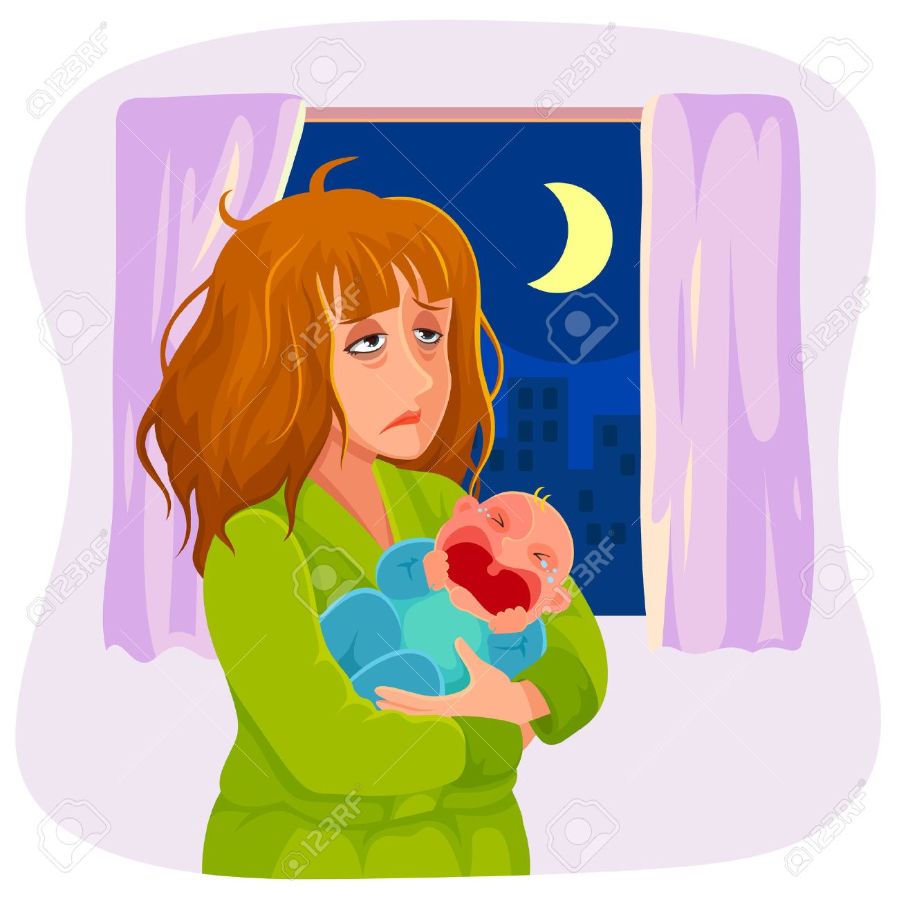 Tired Mom Clipart.
