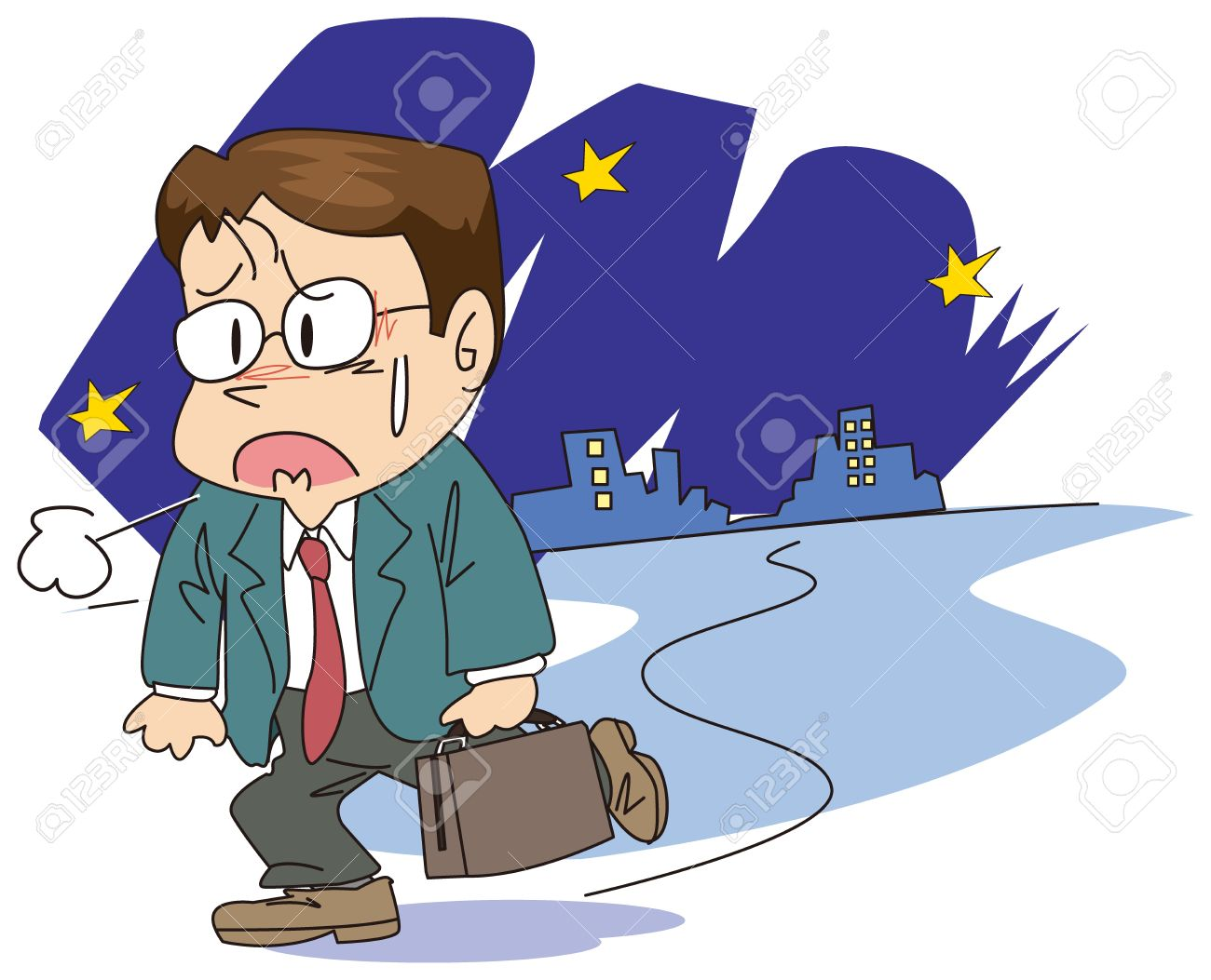 An Office Worker Is Tired Royalty Free Cliparts, Vectors, And.