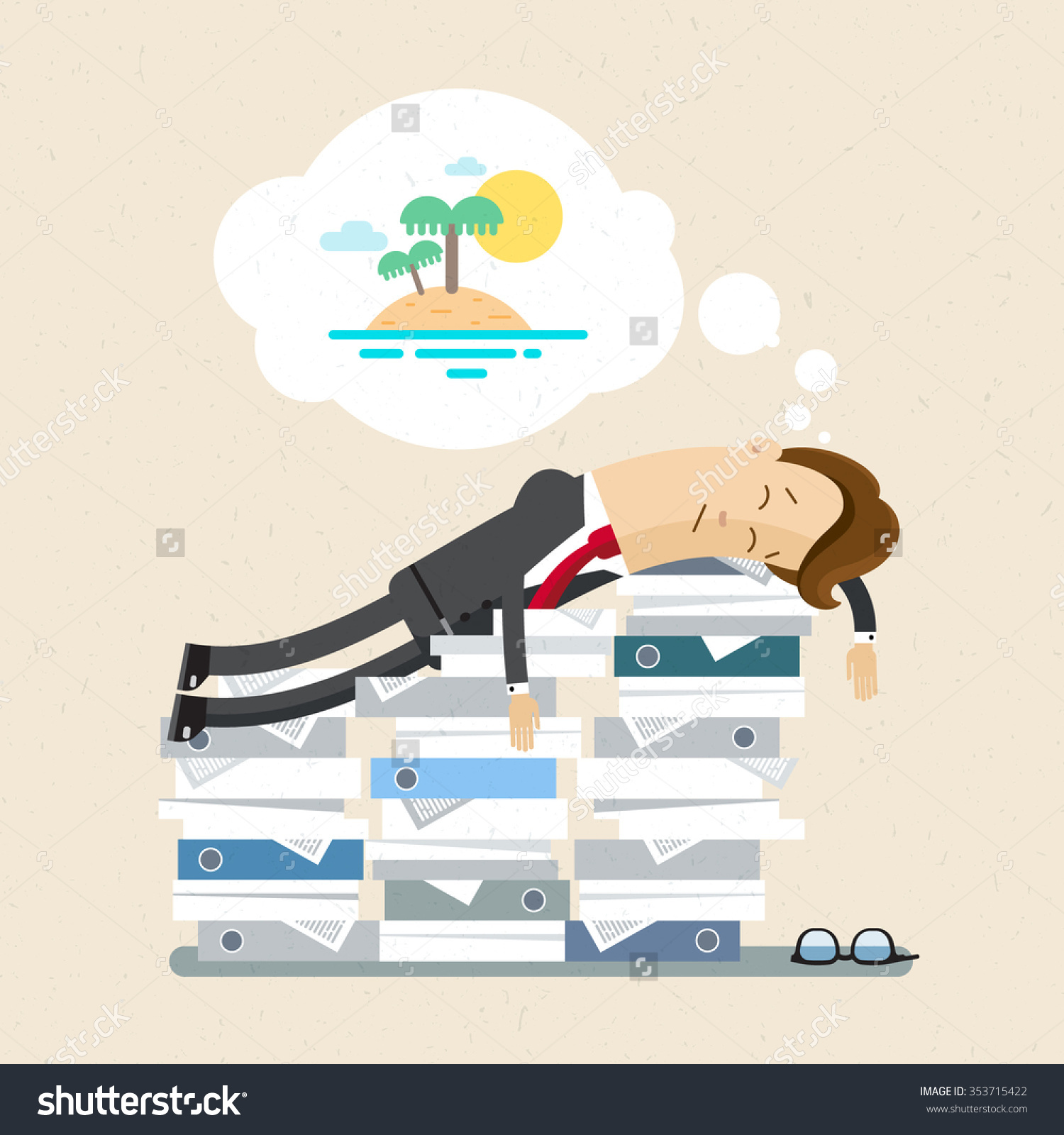 Manager Clerk Office Worker Clipart Manager Stock Vector 353715422.