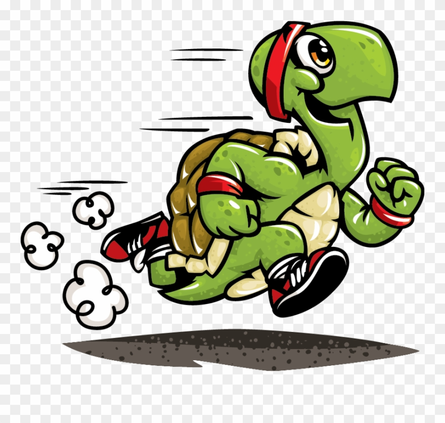 Slow Clipart Exhausted Runner.