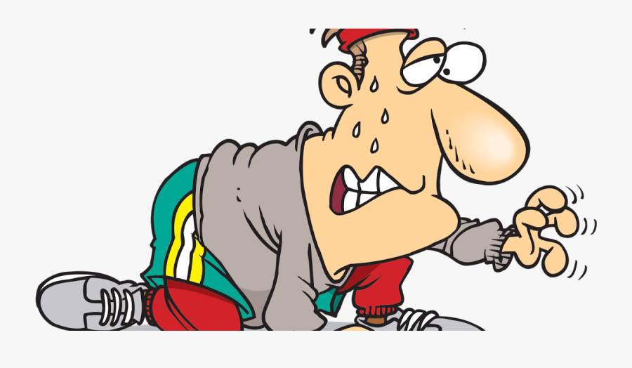 Tired After Running Cartoon , Free Transparent Clipart.