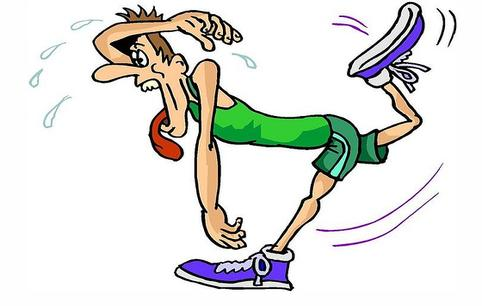 Exhausted Runner Clipart.