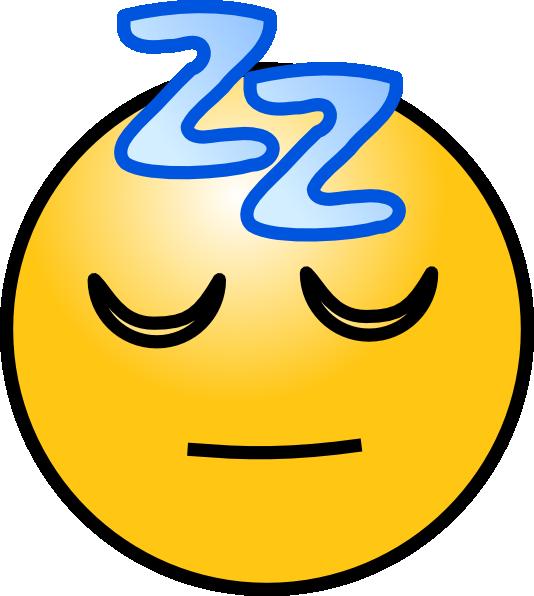 Sleeping Smiley Face Clip Art N5 free image.