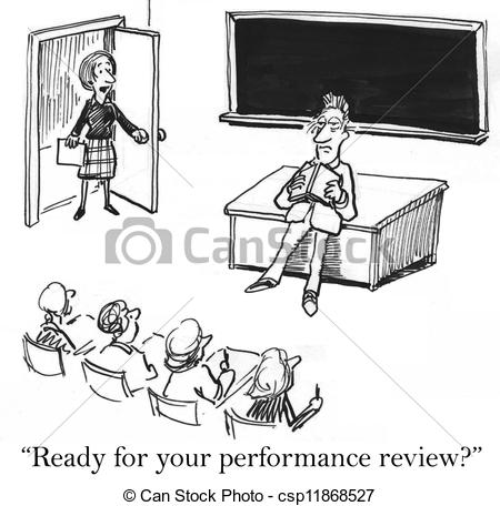 Clip Art of Performance review is right now for teacher.