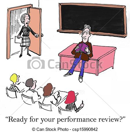 Stock Photo of Performance review is right now for teacher.