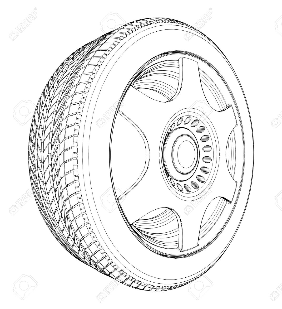 Tire black and white clipart 3 » Clipart Station.
