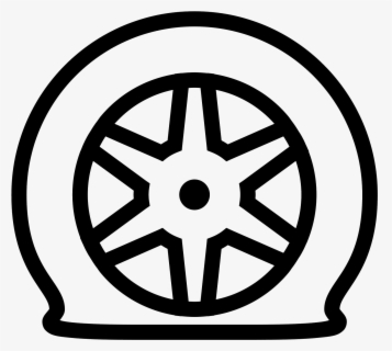Free Tire Black And White Clip Art with No Background.