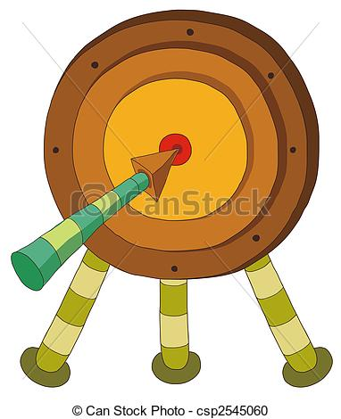 Stock Illustration of archery target.