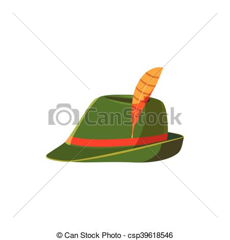 EPS Vector of Oktoberfest tirol hat icon, cartoon style.