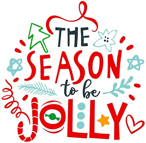 Amazon.com: Christmas Vinyl Decal/Tis The Season To Be Jolly.