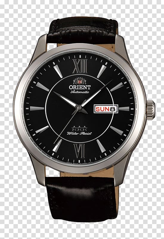 Automatic watch Orient Watch Tissot Clock, watch transparent.