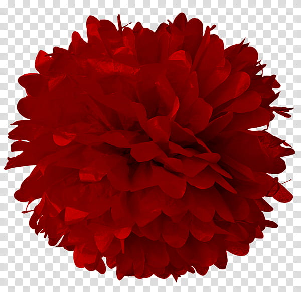 Paper Pom Pom Tissue Paper transparent background PNG.