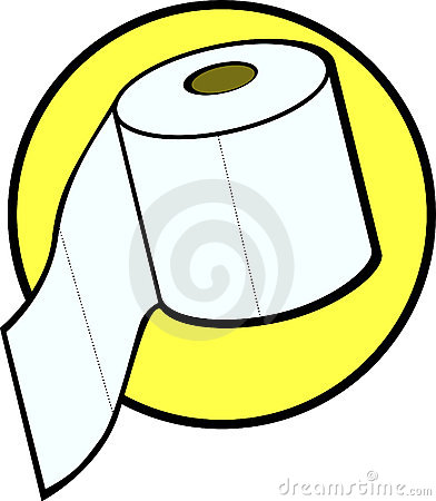 Toilet Paper Roll Vector Illustration Royalty Free Stock Photo.